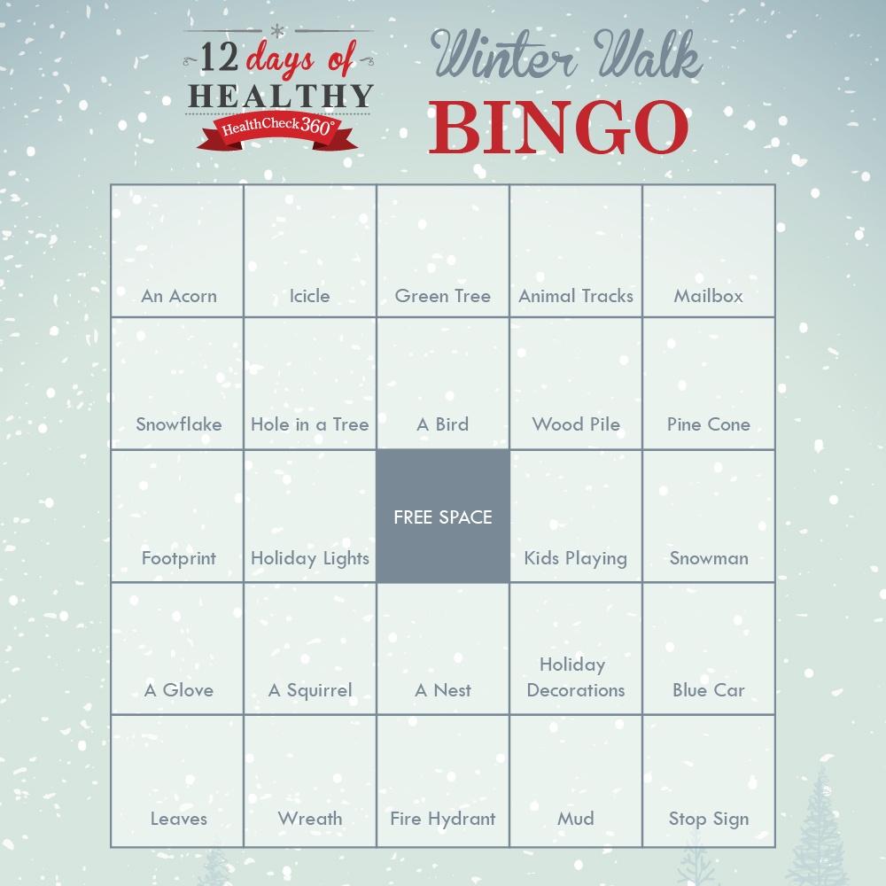 Winter Walk Bingo Card