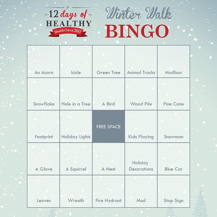 Winter Walk Bingo Card