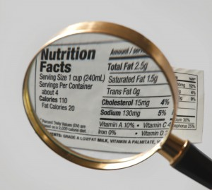 Magnified Nutrition Label